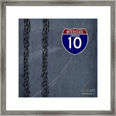 Arizona, Interstate 10, Hot Wheels Framed Print by Pablo Franchi