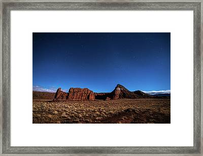 Framed Print featuring the photograph Arizona Landscape At Night by Todd Aaron