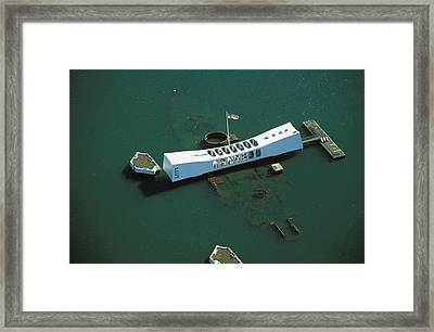 Arizona Memorial Aerial Framed Print