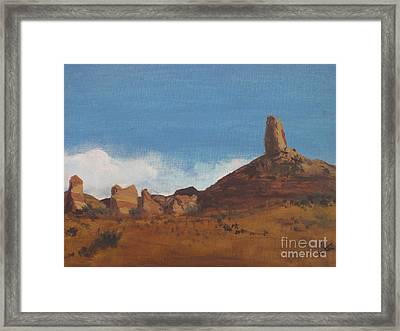 Framed Print featuring the painting Arizona Monolith by Suzette Kallen
