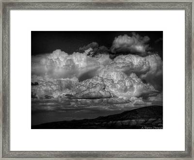 Arizona Monsoon Black And White Framed Print