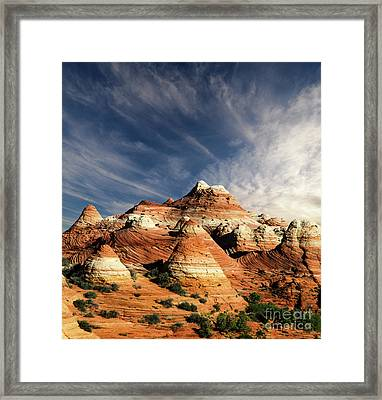 Framed Print featuring the photograph Arizona North Coyote Buttes by Bob Christopher