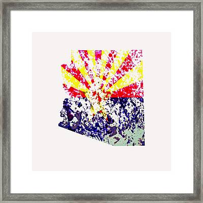 Arizona Paint Splatter Framed Print by Brian Reaves