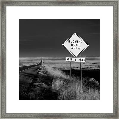 Arizona Road Framed Print