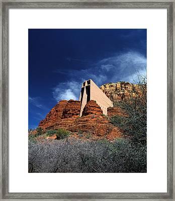 Arizona, Sedona  Chapel Of The Holy Cross Framed Print by American School