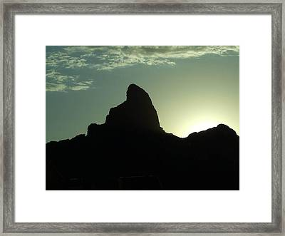 Arizona Silhouette Framed Print by Gabrielle Pierce