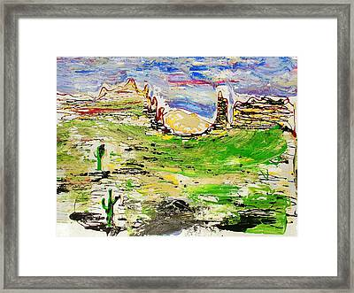 Arizona Skies Framed Print by J R Seymour