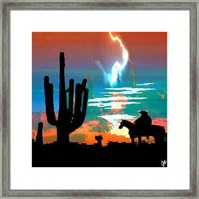 Framed Print featuring the photograph Arizona Skies by Ken Walker