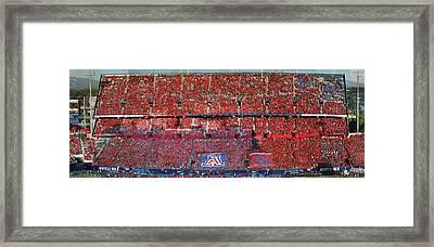 Arizona Stadium Triptych Part 1 Framed Print by Stephen Farley