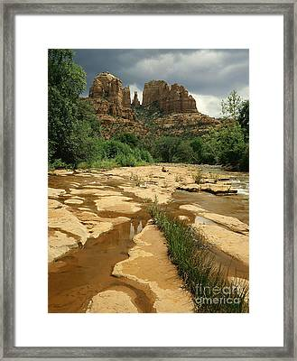 Arizona Summer Storm Framed Print by Willard Clay