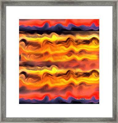 Arizona Sunrise Abstract 2 Framed Print