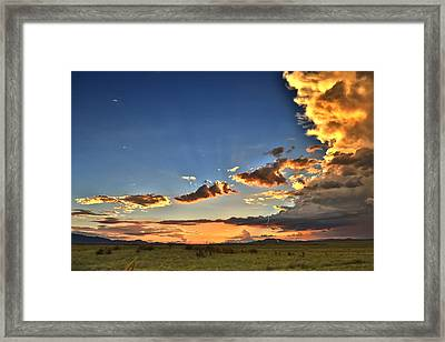 Arizona Sunset Storm Framed Print