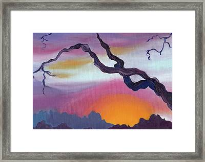 Arizona Sunset Framed Print by Suzanne  Marie Leclair