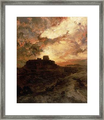 Arizona Sunset Framed Print by Thomas Moran