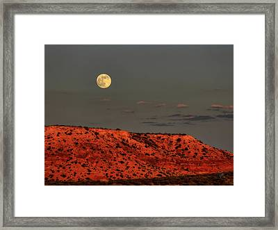 Arizona Supermoon 001 Framed Print
