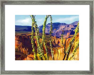 Arizona Superstition Mountains Framed Print