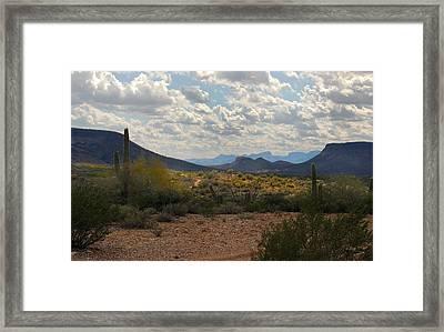 Arizona Trails Framed Print by Gordon Beck