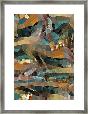 Arizona Triangles Framed Print