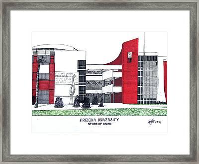Arizona University Framed Print by Frederic Kohli