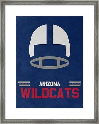 Arizona Wildcats Vintage Football Art Framed Print