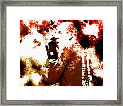 Arjen Robben 2b Framed Print by Brian Reaves