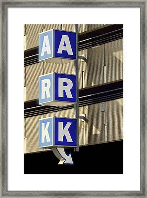 Ark - This Way Framed Print