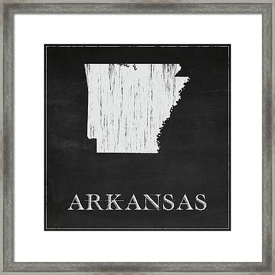 Arkansas Map Framed Print by Finlay McNevin