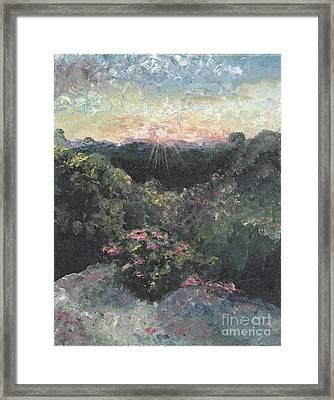 Arkansas Mountain Sunset Framed Print by Nadine Rippelmeyer