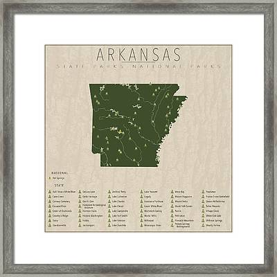 Arkansas Parks Framed Print by Finlay McNevin