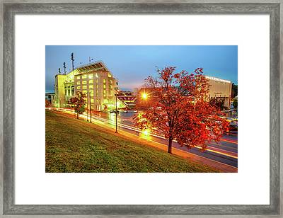 Arkansas Razorback Red - Donald W. Reynolds Stadium - Fayetteville Arkansas Framed Print by Gregory Ballos