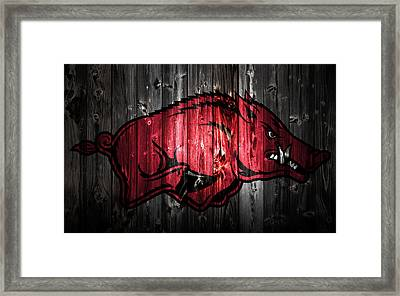 Arkansas Razorbacks 2a Framed Print by Brian Reaves