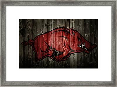 Arkansas Razorbacks 2b Framed Print by Brian Reaves