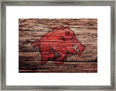 Arkansas Razorbacks Framed Print by Brian Reaves