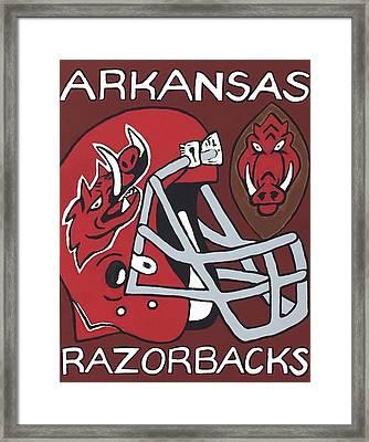 Arkansas Razorbacks Framed Print