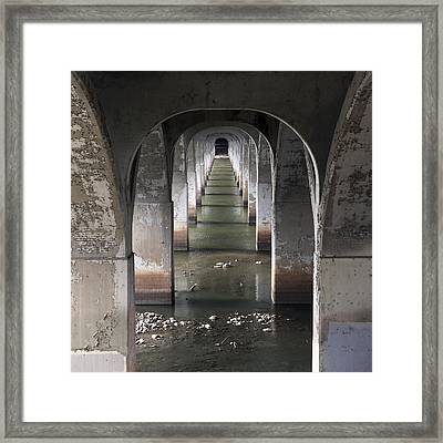 Arkansas River Arches Framed Print by William Oswald