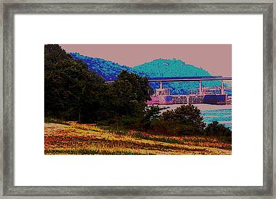 Arkansas River Lock Framed Print by Tom Herrin