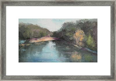 Arkansas River Scene Framed Print
