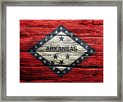 Arkansas State Flag W1 Framed Print