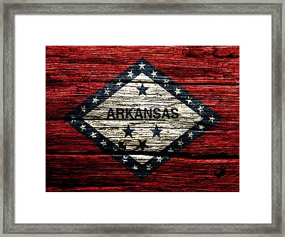Arkansas State Flag W2 Framed Print
