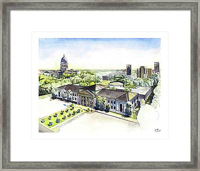 Arkansas Supreme Court Framed Print by Yang Luo-Branch