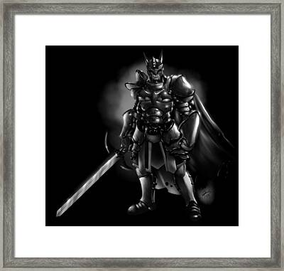 Arkham Knight Framed Print by Pete Tapang