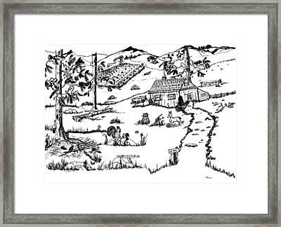 Arlenne's Idyllic Farm Framed Print by Daniel Hagerman