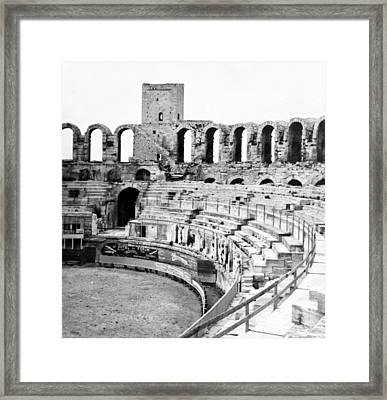 Arles Amphitheater A Roman Arena In Arles - France - C 1929 Framed Print by International  Images