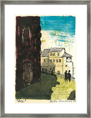 Framed Print featuring the painting Arles Near Arena Provence by Martin Stankewitz