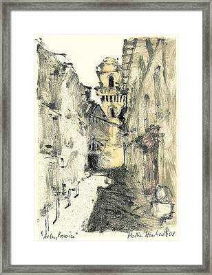 Framed Print featuring the painting Arles Provence by Martin Stankewitz