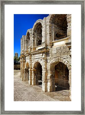Arles Roman Amphitheater Framed Print by Olivier Le Queinec