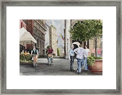 Arles Street Framed Print