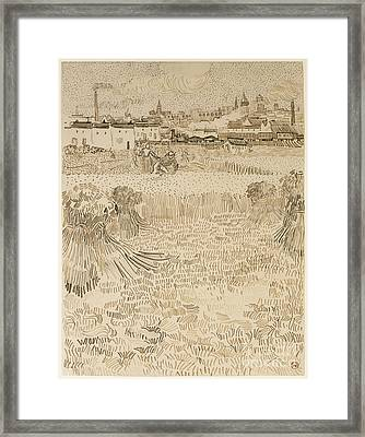 Arles View From The Wheatfields Framed Print