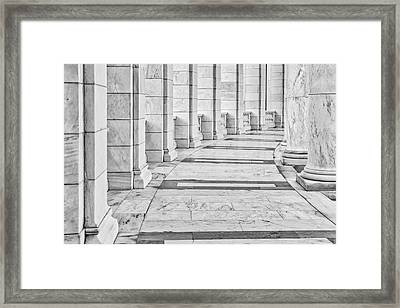 Framed Print featuring the photograph Arlington Amphitheater Arches And Columns II by Susan Candelario