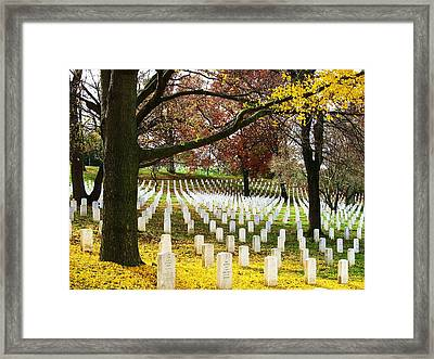 Arlington In Yellow Framed Print by Joyce Kimble Smith